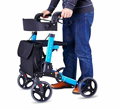 Culver Euro Style Seat   Back Folding Rollator Walker Four Wheel Drive Medical