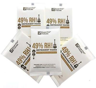 Guitar Humidifiers (5 Pack / 30 Grams), 49-Percent RH Instrument Packs | 2-Way C