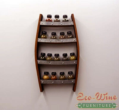 Wine Barrel Spice Rack Handmade ()