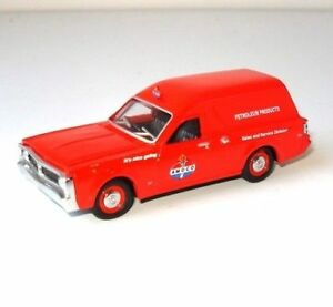 NEW-1971-XY-Ford-Falcon-Amoco-Panel-Van-1-64-Diecast-Model-Car-Display-Case