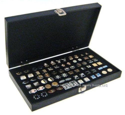6 Wholesale Solid Top Lid Black Cufflinks Display Organizer Storage Boxes Cases