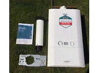 Ideal Logic + Plus Heat 18 Gas Boiler with Flue, Bracket, Manual 2yrs Old