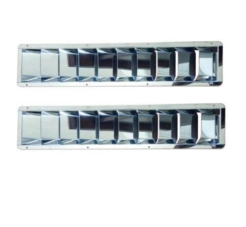 1PCS STAINLESS STEEL BOAT VENT 10 SLOTS LOUVER YACHT ACCESSORIES