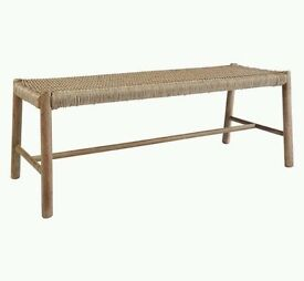 John Lewis Croft Collection Islay 3-Seat ex Dining Bench New RRP £200