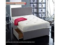 🔥🔥SPECIAL OFFER🔥🔥 DOUBLE DIVAN BED BASE WITH LUXURY SPRUNG MATTRESS & FAST DELIVERY