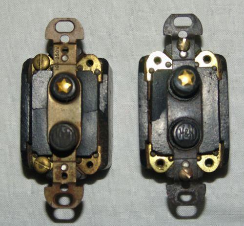 Antique Push Button Light Switch Ebay