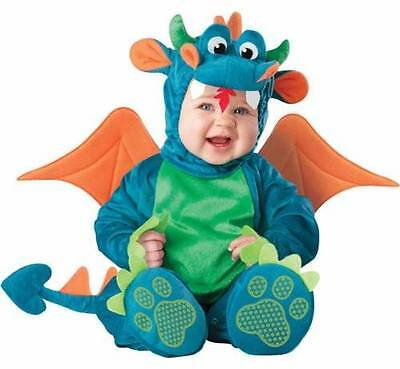 Dinky Dragon 6-12 mos INFANT TODDLER COSTUME Boys Kids Cute Theme Party
