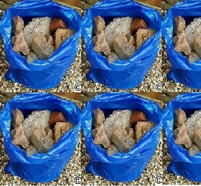 50 BLUE RUBBLE BAGS/SACKS DIY BUILDERS 71CM X 50CM  20