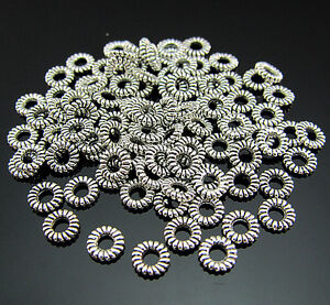 FREE-100PCS-Crafts-Tibetan-silver-Circle-Pendant-Jewelry-spacer-Ring-Connector