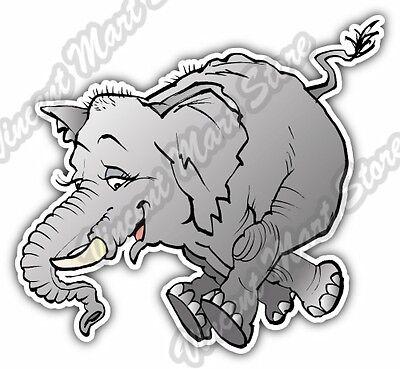 Happy Jumping Elephant Cartoon Gift Idea Car Bumper Vinyl Sticker Decal 4