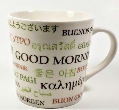 Starbucks 2006 Good Morning multi language coffee mug 17 oz oversized