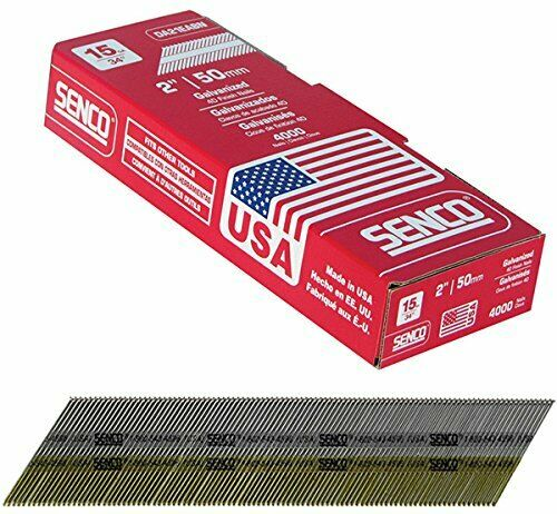 "SENCO DA21EPBN 15 GAUGE BY 2"" LENGTH ANGLED STRIP BRIGHT BASIC FINISH NAILS 4K"