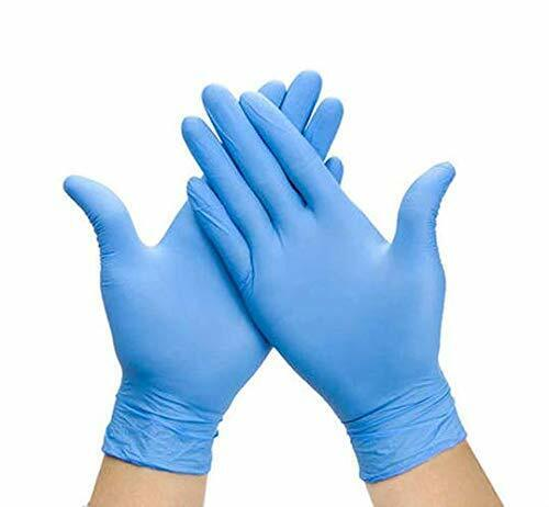 Nitrile Gloves, Blue, Powder Free, Latex Free 4.5 mil Resistant LARGE 100 count