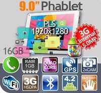 9'' Cube 3G Phone Tablets Quad Core 1920X1280 PLS Android 4.2.2