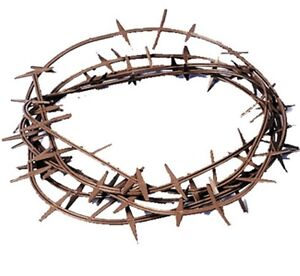 JESUS CROWN OF THORNS KING CROWN BIBLICAL HAT HEADPIECES RUBBER COSTUMES GB22