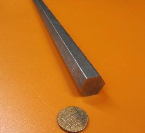 "1018 Carbon Steel Hex Rod 11/16"" Hex  x 3 Foot Long"