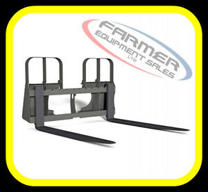 Skid Steer quick attach PALLET FORKS, 4200lb capacity IN STOCK !
