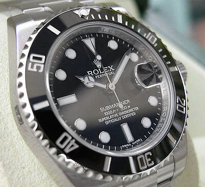 $8450.00 - Rolex SUBMARINER 116610 Mens Stainless Steel Black Ceramic Bezel 40MM Black Dial