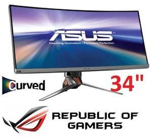 "NEW ASUS ROG 34"" CURVED LED MONITOR PG348Q 139853540 DESKTOP COMPUTER PC GAMING MONITOR"