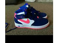 Air force 1s and converse sz5 like new worn once