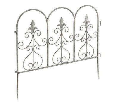 [Pack of 6] Elegant Scrolled Border Edging Garden Borders Fencing Panels