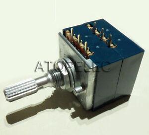 Japan-ALPS-RK27-VOLUME-Potentiometer-Dual-50K-50KAX2-Knurled