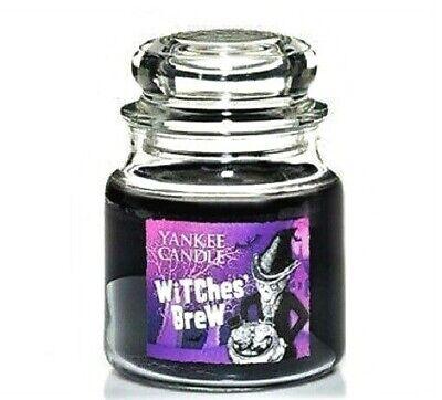"Yankee Candle Halloween ""WITCHES BREW"" HOLOGRAM Medium 14.5 oz~WHITE LABEL~ RARE"