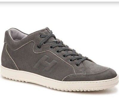 New Hogan Logo Lace Up Charcoal Made in Italy Suede Sneakers SzUK8.5 US 9.5 $445