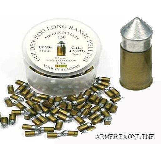 Pallini aria compressa 4 5 piombini carabina 4,5 arizona gold skenco 150pz