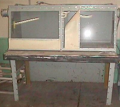 Bag Dump Station Stainless Steel Table Top Carbon Steel Cabinet-used