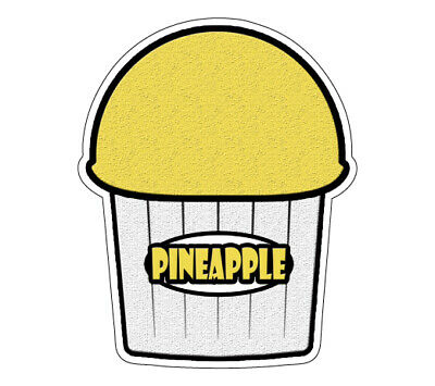 Pineapple Flavor Italian Ice Decal Shaved Ice Sign Cart Trailer Sticker