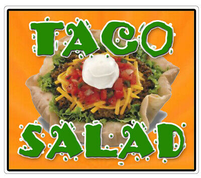 Taco Salad Concession Decal Mexican Food Menu Cart Trailer Stand Sticker