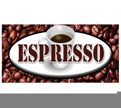 Espresso Decal Coffee Beans Shop Cafe Sign Cart Trailer Stand Sticker