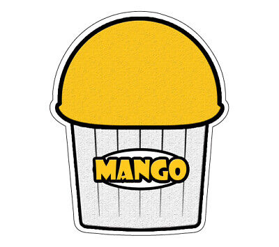 Mango Flavor Italian Ice Decal Shaved Ice Cart Trailer Stand Sticker