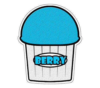 Berry Flavor Italian Ice Decal Shaved Ice Cart Trailer Stand Equipment