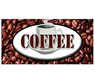 Coffee Decal Shop House Sign Cafe Beans Hot Machine New Cart Trailer Stand