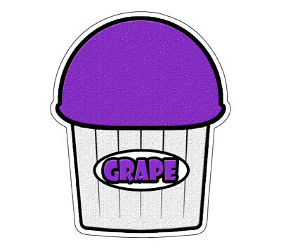 Grape Flavor Italian Ice Decal Shaved Ice Cart Trailer Stand Sticker