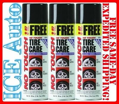 3 PACK of NO TOUCH Original Tire Care NTBP15 18oz Spray Cans - BEST TIRE - No Touch Tire Care