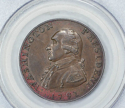 Click now to see the BUY IT NOW Price! 1791 LARGE EAGLE CENT GEORGE WASHINGTON PCGS MS64 BN HARD GLOSSY SURFACES BK 15
