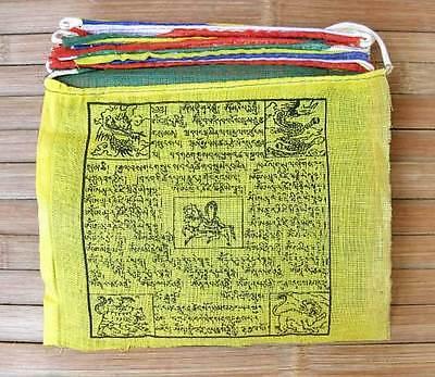 25 traditionelle Tibet Gebetsfahnen - Größe 2 - 100 % Baumwolle - Nepal