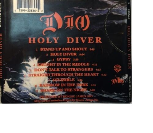 Holy Diver By Dio (cd, Jul-1983, Warner Bros.) Audio Cd With Booklet