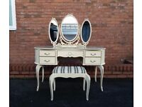 French Louis Style Dressing Table and Stool