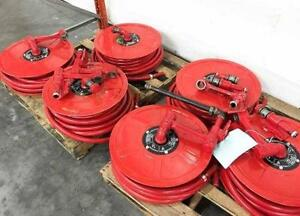 Continuous flow wall mounted hose reel