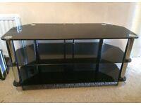 TV Units x 2 (Black Glass and Chrome)