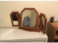 Adjustable wooden mirrors