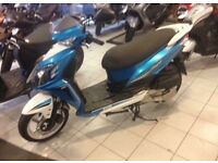 SYM Jet 4, 125cc scooter (blue)