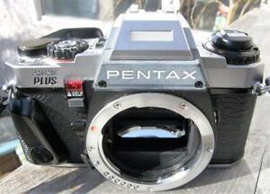 Classic Pentax Program Plus 35mm SLR Film Camera Chrome Body VGC