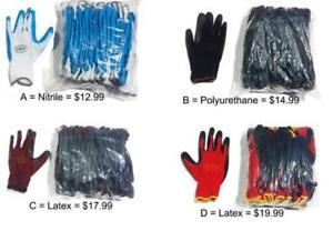 Nitrile / Latex / Polyurethane Gloves
