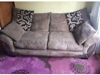 3 Seater Sofa & a Swivel / Cuddle Chair *** ASAP
