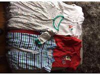 Boys bundle of onsies and vests